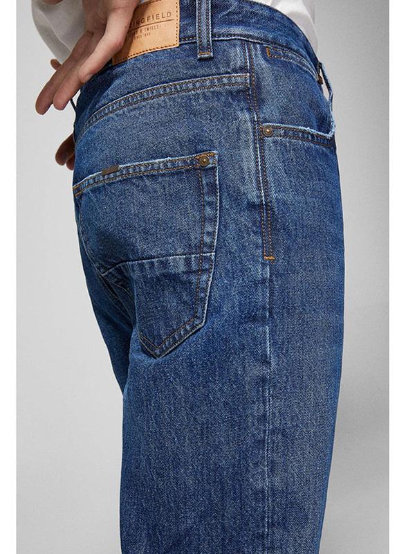 Springfield Denim Jeans for Men, 30 EU, Dark Blue