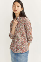 Springfield Long Sleeve Printed Essential Shirt for Women, 42 EU, Multicolor