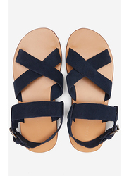 Springfield Back Strap Buckle Closure Sandals, 41 EU, Medium Blue