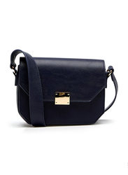 Springfield Twist Lock Closure Crossbody Bag for Women, Medium Blue