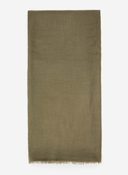 Springfield Solid Scarf for Women, Extra Small, Olive