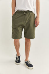 Springfield Towelling Bermuda Shorts for Men, Double Extra Large, Green