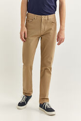 Springfield Zero Gravity 5-Pocket Bi-Stretch Trousers for Men, 34 EU, Beige