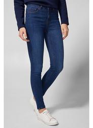 Springfield Fancy Denim Jeans for Women, 42 EU, Medium Blue