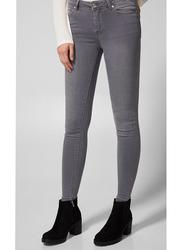 Springfield Denim Basic Jeans for Women, 38 EU, Dark Grey