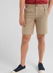 Springfield 4 Pockets Bermuda Shorts for Men, 46 EU, Beige