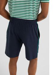 Springfield Drawstring Fastening Bermuda Shorts for Men, Medium, Navy Blue
