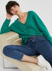 Springfield Long Sleeve Fancy T-Shirts for Women, Large, Green