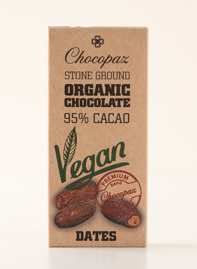 Chocopaz Organic Vegan Chocolate with Dates 95%, 47 grams