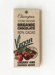 Chocopaz Organic Vegan Chocolate with Cherry and Pumpkin Seed, 47 grams