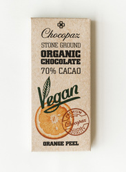Chocopaz Organic Vegan Chocolate with Orange Peel, 47 grams