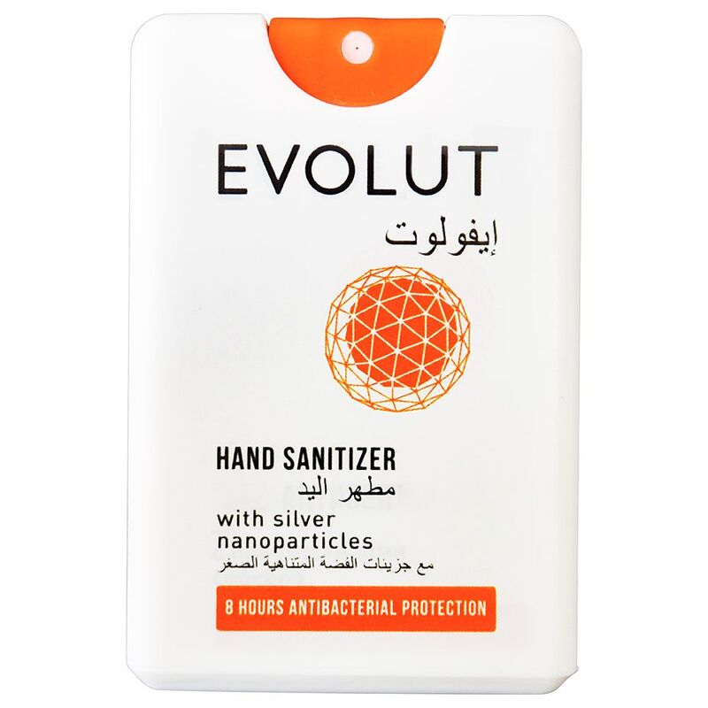 Evolut Hand Sanitizer With Silver Nanoparticles - 1 Piece, 20 ml