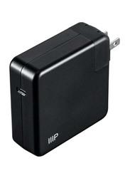 Monoprice USB-C Power Adapter US Plug Wall Charger, 85W, 35944, Black