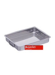 Pujadas 70cm Stainless Steel Rectangle Roasting Pan with Falling Handles, Silver