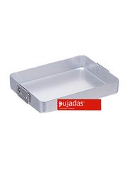 Pujadas 70cm Aluminium Rectangular Roasting Pan with Falling Handles, 1 Ltr, 70 x 45 x 10cm, Silver