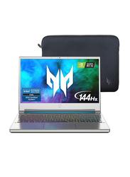 "Acer Predator Triton 300 SE Gaming Laptop, 14"" FHD 144Hz Display, Intel Core i7-11375H 11th Gen, 512GB SSD, 16GB RAM, 6GB NVIDIA GeForce RTX 3060 Graphics, EN-KB, Win 10 Home, NH-QD0AA-002, Silver"