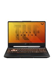 "ASUS TUF Gaming F15 Laptop, 15.6"" FHD Display, Intel Core i5-10300H 10th Gen 2.50GHz, 512GB SSD, 8GB RAM, 4GB NVIDIA GeForce GTX 1650 Graphics, EN KB, FreeDOS, TUF FX506LH-HN004, Bunt Black"