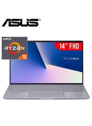 "Asus Zenbook Q407IQ Q407IQBR5N4 Laptop, 14"" FHD Display, AMD Ryzen 5 4500, 8GB RAM, 256GB SSD, 2GB NVIDIA GeForce MX350 Graphics, EN KB, Win 10, 90NB0R89-M00010, Light Grey"