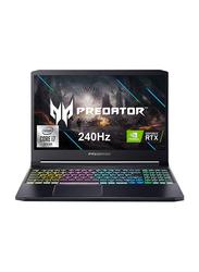 "Acer Predator Triton 300 Gaming Laptop, 15.6"" 240Hz Display, Intel Core i7-10750H 10th Gen 2.6GHz, 512GB SSD, 16GB RAM, 8GB NVIDIA GeForce RTX 2070 Graphics, RGB Backlit EN-KB, Win 10, Black"