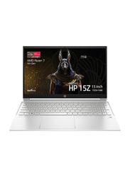 HP Pavilion 15Z-EH Laptop, 15.6-inch Full HD Display, AMD Ryzen 7-4700U 2.0 GHz, 256GB SSD, 8GB RAM, AMD Radeon Graphics, EN KB with Fingerprint Reader, Windows 10, 9WD42AV, Natural Silver