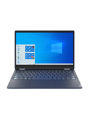 """Lenovo Yoga 6 2-in-1 Laptop, 13.3"""" FHD Touch Display, AMD Ryzen 5 5500U 2.1GHz, 256GB SSD, 8GB RAM, AMD Radeon Graphics, EN-KB with FP Reader, Win 10 Home, 82ND0009US, Abyss Blue"""