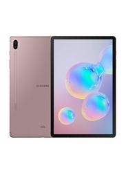 Samsung Galaxy Tab S6 (2019) 128GB Rose Blush 10.5-Inch Tablet, 6GB RAM, Wi-Fi + 4G LTE, UAE Version