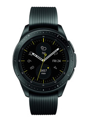Samsung Galaxy R810 42mm Smartwatch, GPS, Midnight Black Stainless Steel Case with Black Band