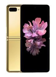 Samsung Galaxy Z Flip 256GB Mirror Gold, 8GB RAM, 4G LTE, Single SIM Smartphone, UAE Version