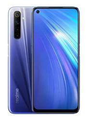 Realme 6 128GB Comet Blue, 6GB RAM, 4G LTE, Dual Sim Smartphone