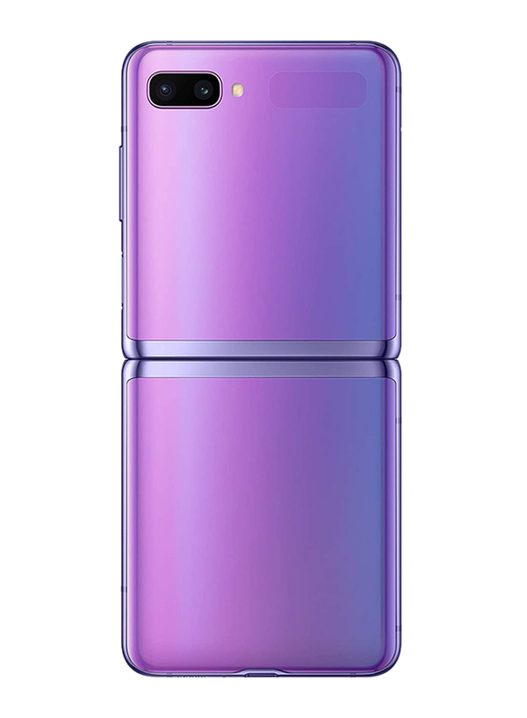 Samsung Galaxy Z Flip 256GB Mirror Purple, 8GB RAM, 4G LTE, Single SIM Smartphone, UAE Version