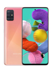 Samsung Galaxy A51 128GB Prism Crush Pink, 6GB RAM, 4G LTE, Dual Sim Smartphone, UAE Version