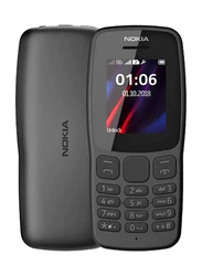 Nokia 106 4MB Black, 4MB RAM, 2G, Dual Sim Normal Mobile Phone
