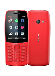 Nokia 210 16MB Red, 16MB RAM, 2G, Dual Sim Normal Mobile Phone