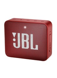 JBL GO 2 Waterproof Portable Bluetooth Speaker, Red