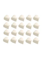 Rainbow Toys 20-Piece Table Corner Edge Protector Set, White