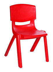 Rainbow Toys Plastic Curved Backless Chair, Red