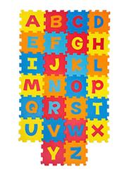 Rainbow Toys Fluffy Bear Eva Foam Abc Play Mat Puzzle, Multicolor