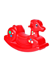Rainbow Toys Rocking Deer Seesaw, Red, 68 x 30 x 45cm, Ages 3+