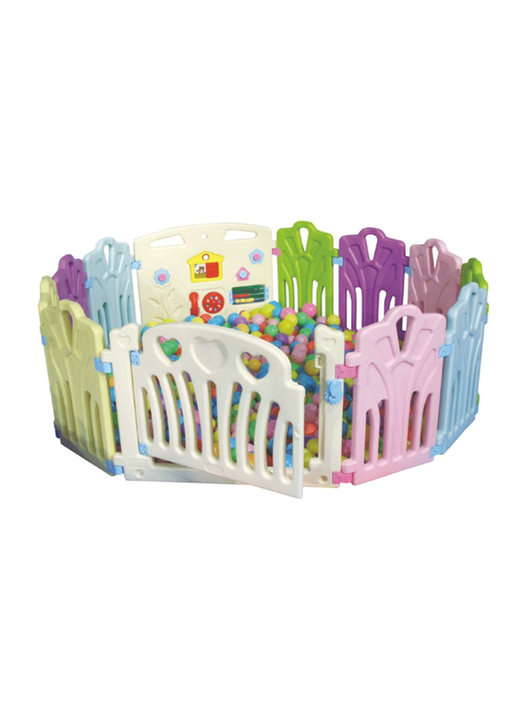 Rainbow Toys Baby Playpen Kids Activity Center,  12 Panels,  Multicolor