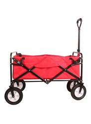 Rainbow Toys Folding Shopping Cart Trolley, Red