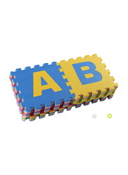 Rainbow Toys 26-Piece A-Z Alphabets Play Mat Puzzle, Multicolor
