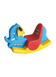 Rainbow Toys Rocking Elephant Seesaw, Blue/Red/Yellow, 85 x 30 x 44cm, Ages 2+