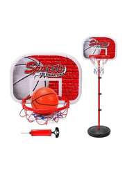 Rainbow Toys Adjustable Basket Ball Stand, Basket Holder and Hoop Set, 3 Pieces, Ages 3+
