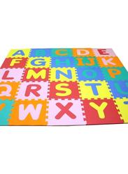 Rainbow Toys 25-Piece Set Alphabet Printed Puzzles Foam Mat, Multicolor