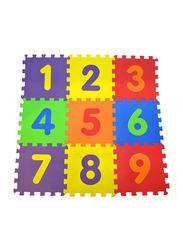 Rainbow Toys 9 Piece Polimat Puzzle Numbers Game Tile Play Mat Set, 33 x 33cm, Ages Upto 12 Months, Multicolor