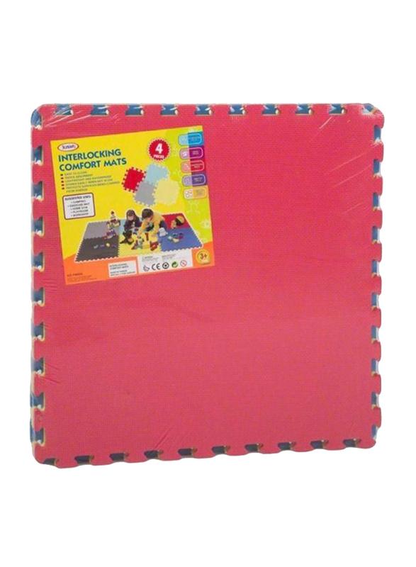 Rainbow Toys 4-Piece Set Pop Puzzle Foam Mat, Ages 3+, Multicolor