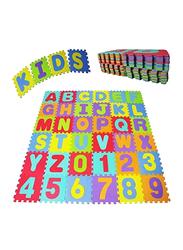 Rainbow Toys 36-Piece Alphabets and Number Puzzle Foam Mat Set, 30cm, Multicolor