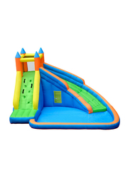 Rainbow Toys Slide Household Inflatable Water Park Castles, Ages 4+