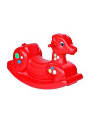 Rainbow Toys Horse Seesaw for Kids Activity, Red, Ages 3+
