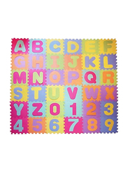 Rainbow Toys 36-Piece Alphabets and Number Puzzle Foam Mat Set, Multicolor